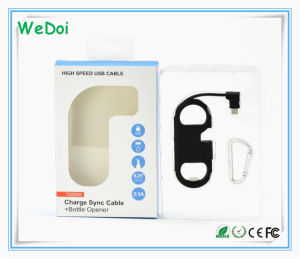 Bottle Opener Mobile Phone Cable with High Quality (WY-CA36) pictures & photos