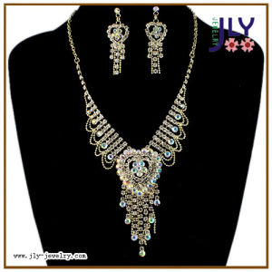 Wholesale Fashion Cup Chain Brass Jewelry Gold Plating Necklace Set pictures & photos