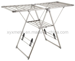Foldable Stainless Steel Clothes Drying Stand Rack pictures & photos