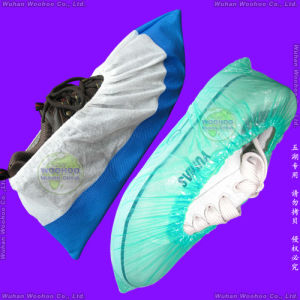 Waterproof Surgical/Medical/Hospital/Plastic/Polyethylene/Poly/HDPE/LDPE/PP+PE/PP/SMS/Polypropylene Nonwoven Disposable PE Shoe Cover, Disposable CPE Overshoes pictures & photos