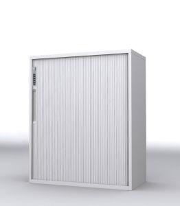 Steel Tambour Door Storage Cabinet With Combination Lock