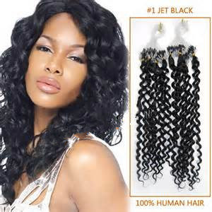 Human Hair Curly Micro Link Loop Ring Hair Extension pictures & photos