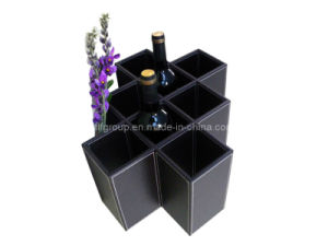 Hot Sale Unique Design Black Leather Wine Box (FG8019) pictures & photos