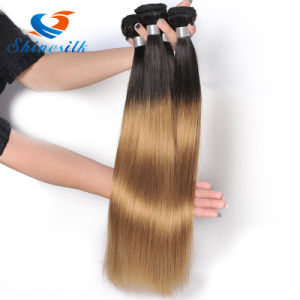 Cheap Ombre Blonde Bundles with Dark Roots Straight Human Hair Weave pictures & photos
