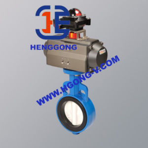 ANSI/DIN Ductile Iron Pneumatic Rubber Seat Wafer Butterfly Valve