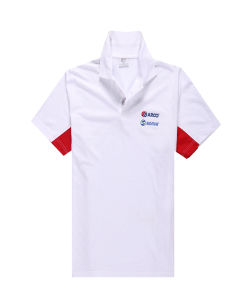 100% Polyester Men Fashion Cheap Slub Polo Shirts pictures & photos