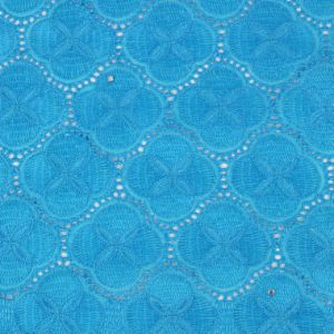 Candlace Sky Blue Color Cotton Voile Fabric Textile for Wedding Cloth pictures & photos