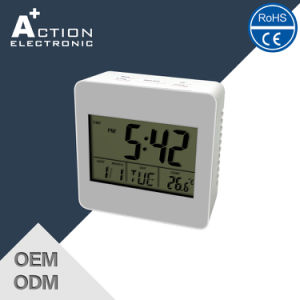 Square Digital Calendar Desk Clock with Temperature pictures & photos
