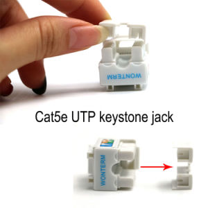 Wonterm 10-Pack Plastic Gold Female UTP Cat5e Ethernet Keystone RJ45 Punch-Down Keystone pictures & photos
