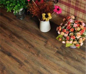 Retro Dark Wood Pattern Mulit-Color PVC Gloss Floor pictures & photos
