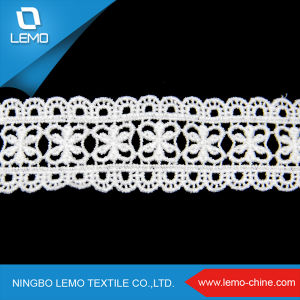 Ivory Beaded Chemical Lace for Garment pictures & photos
