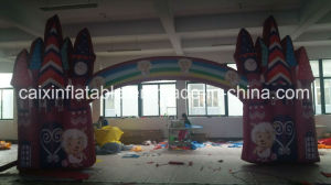 Customized Advertising Kids Playing Park Inflatable Castle Arch pictures & photos