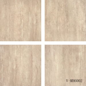 China Factory Interior Italian Design Four Faces Porcelain Brown Floor Tile (600X600mm)