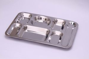 Food Grade Stainless Steel Dinner Use Fast Food Tray/Mess Tray