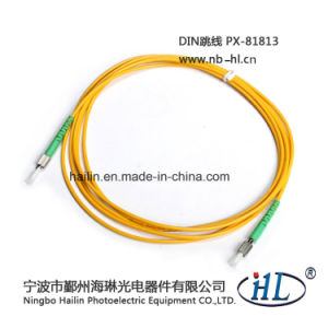 Simplex DIN-DIN APC Fiber Optic Patch Cord Cable for Networks pictures & photos