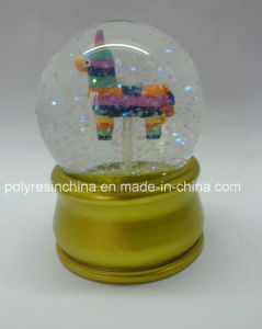 Resin Colorful Snow Globe with Golden Color Base pictures & photos