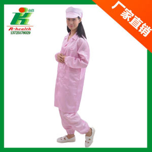Lab Antistatic ESD Cleanroom Safety Work Stripe Straight Collar Smock Coverall pictures & photos