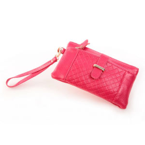 Women Geninue Leather Clutch Evening Bag Cowihide Wristlet Bag pictures & photos
