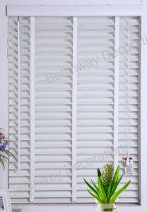Bathroom Waterproof Interior Decoration PVC 50mm Slat Faux Wood Horizontal Blinds