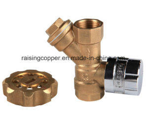 Forged Magnetic Lockable Ball Valve with Strainer pictures & photos