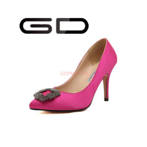 9f1d529fb54 Middle Heel Satin Shoes Pumps Shoes Red Bottom