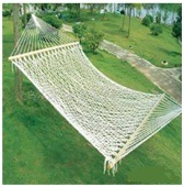 Outdoor Cotton Rope Hammock, Hammocks with Mosquito Netting
