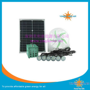 Mini Fan Air-Cooling Solar Stand Fan with LED Light pictures & photos