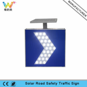 High Way LED Flashing Warning Road Sign Solar Traffic Sign pictures & photos