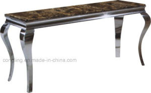 Modern Luxury Mirrored Metal Glass Console Table
