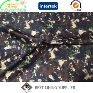 Printed Camouflage Pattern 100 Polyester Lining Fabric for Men′s Jacket pictures & photos