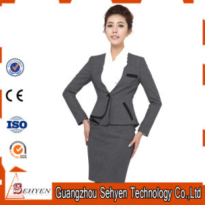 Ladies Long Sleeve Blazer and Skirt Set Women Business Suits pictures & photos