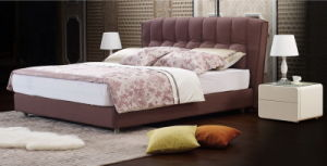 Modern Italian Bedroom Furniture King Size Soft Fabric Bed 722