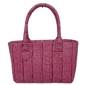 Crocodile Pattern PU  Handbag with Foam Padded