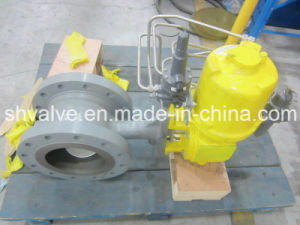 Pneumatic Cast Steel Wcb/Lcb RF Flanged V Port Ball Valve