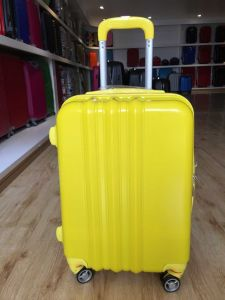 100% New ABS PC Plain Travel Trolley Luggage pictures & photos