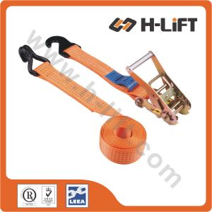 50mm/Mbs5t Ratchet Lashing Strap with Hook & Flat Hook pictures & photos