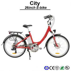 26inch Electric Bicycle 36V 250W Brushless Motor E-Bicycle Velo Saddle E-Bike Urban Road Electric Bike (TDF02Z) pictures & photos