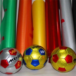 Soccer Football Woven PU Artificial Leather (HSTC025) pictures & photos