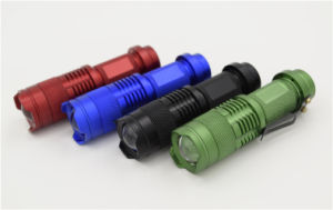 High Power Clip Mini Zoom Flashlight