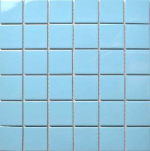 China Cheap Price Light Blue Ceramic Mosaic Tiles for Swimming Pool ...