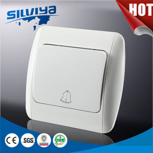 High Quality White Color Door Bell Switch pictures & photos