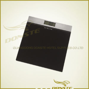 Hotel Square Black Weight Scale