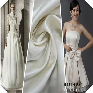 China 100 Polyester White Ivory Silk Satin Wedding Dress Fabric ...