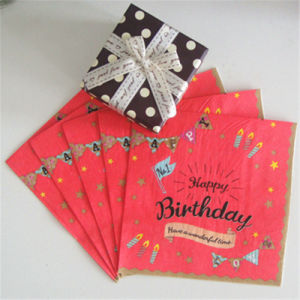 Food Grade Paper Napkin Eco-Friendly for Birthday Party pictures & photos