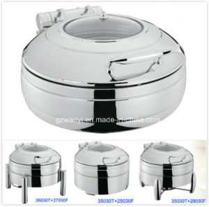 Round Induction Chafing Dish Set 30cm 4.0LTR Food Pan (35030T) pictures & photos
