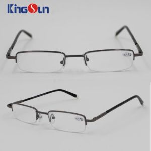 Metal Half Rim Reading Glasses with Hard Case pictures & photos