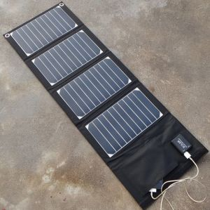 Foldable Solar Power Charger Portable Outdoor Travel Solar Power Pack Solar Charger Bank 25W