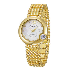 fd79f2753ef Belbi brand ladies dial design anoplog wrist watch gold silver good luck  for you fashion three
