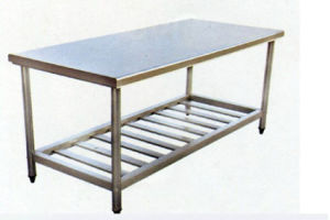 Movable Working Table, Stainless Steel Fabrication, Double Layers CNC Table