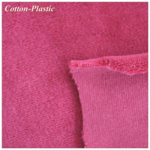 Burgundy CVC Velvet Fabric for Upholstery Textile